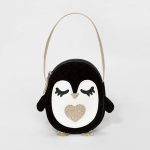 NWT Kids Glittery Penguin Purse Cat & Jack